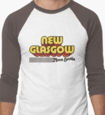 New Glasgow, Nova Scotia | Retro Stripes Men's Baseball ¾ T-Shirt
