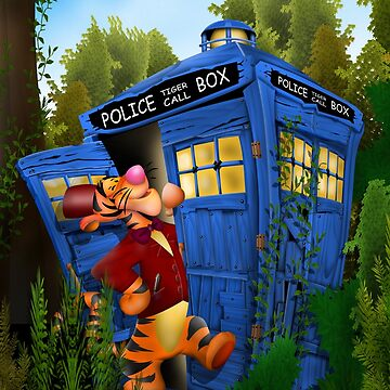 Doctor Tiger with Blue Phone Box by dezigner007