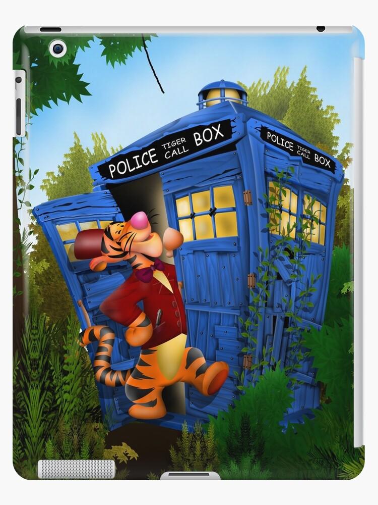 Vinilos y fundas para iPad «Doctor Tiger con la caja del teléfono ...