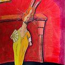 299 - MODIGLIANI BUNNY - DAVE EDWARDS - COLOURED PENCILS & INK - 2010 by BLYTHART