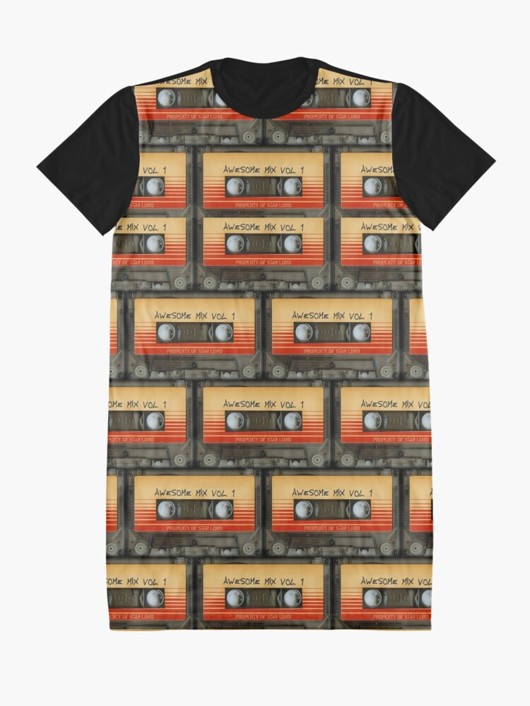 Alternate view of Awesome transparent mix cassette tape volume 1 Graphic T-Shirt Dress