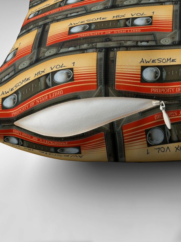 Alternate view of Awesome transparent mix cassette tape volume 1 Throw Pillow