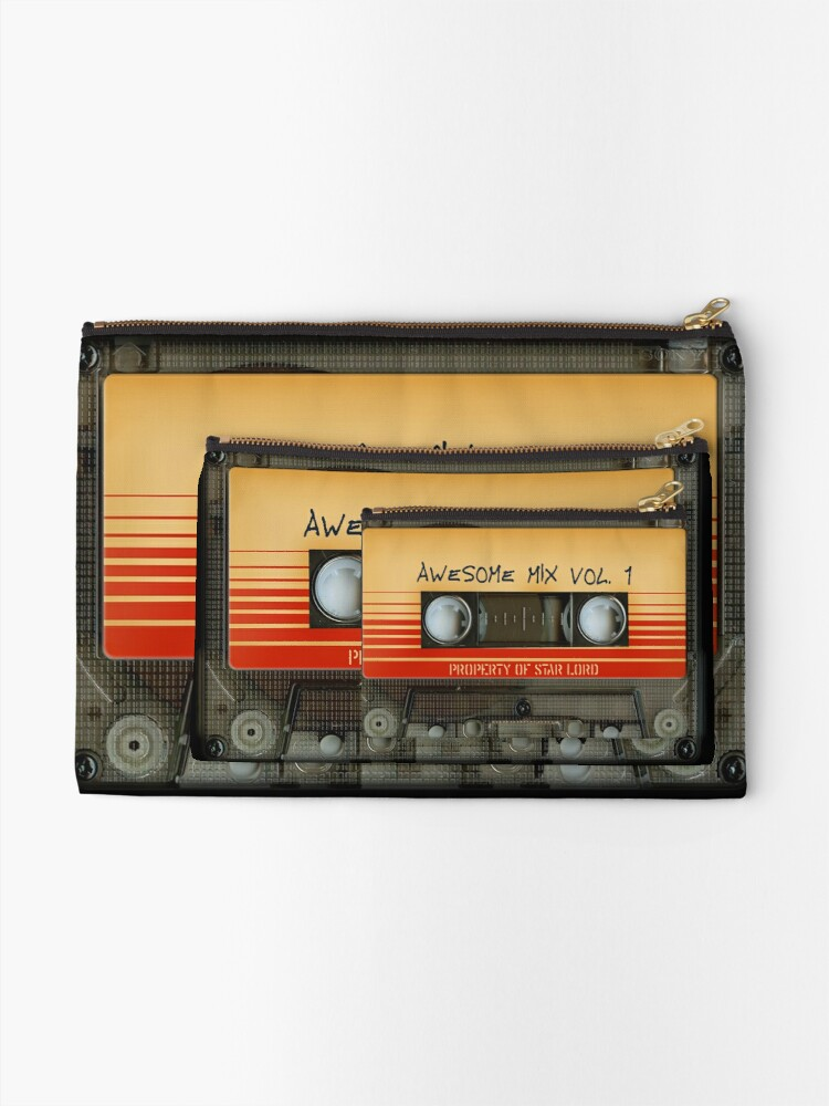 Alternate view of Awesome transparent mix cassette tape volume 1 Zipper Pouch