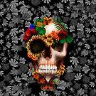Halloween sugar skull with butterfly by Dadang Lugu Mara Perdana