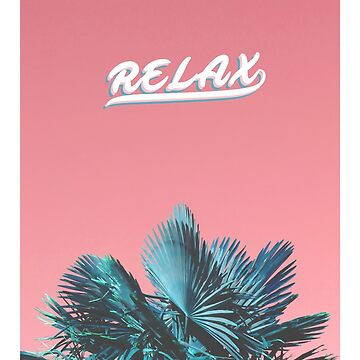 """""""RELAX"""" Palm trees - Phone case by charlie-"""
