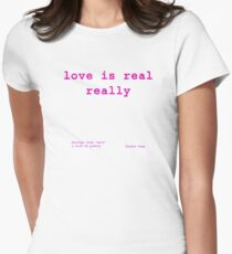 reality check : love Women's Fitted T-Shirt