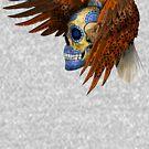 indian native eagle sugar Skull by Dadang Lugu Mara Perdana