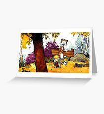 calvin hobbes, kindergeschenk, cartoon, comics, täglicher comic Grußkarte