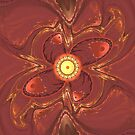 Fractal Red Yellow Flower by Vitta