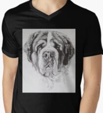 Saint Bernard Men's V-Neck T-Shirt