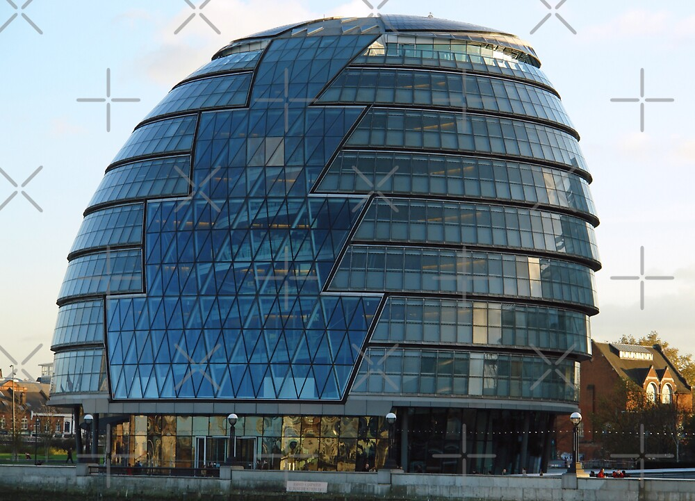 The imposing glass Greater London mayoral building on the banks of the Thames by ashishagarwal74