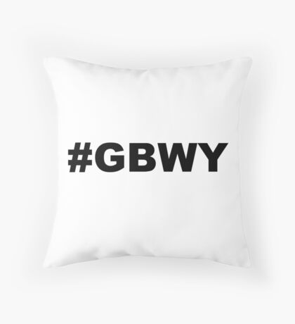 #gbwy Throw Pillow