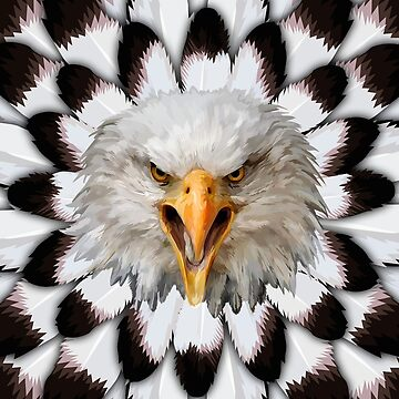 Eagle and feather Pattern by dezigner007