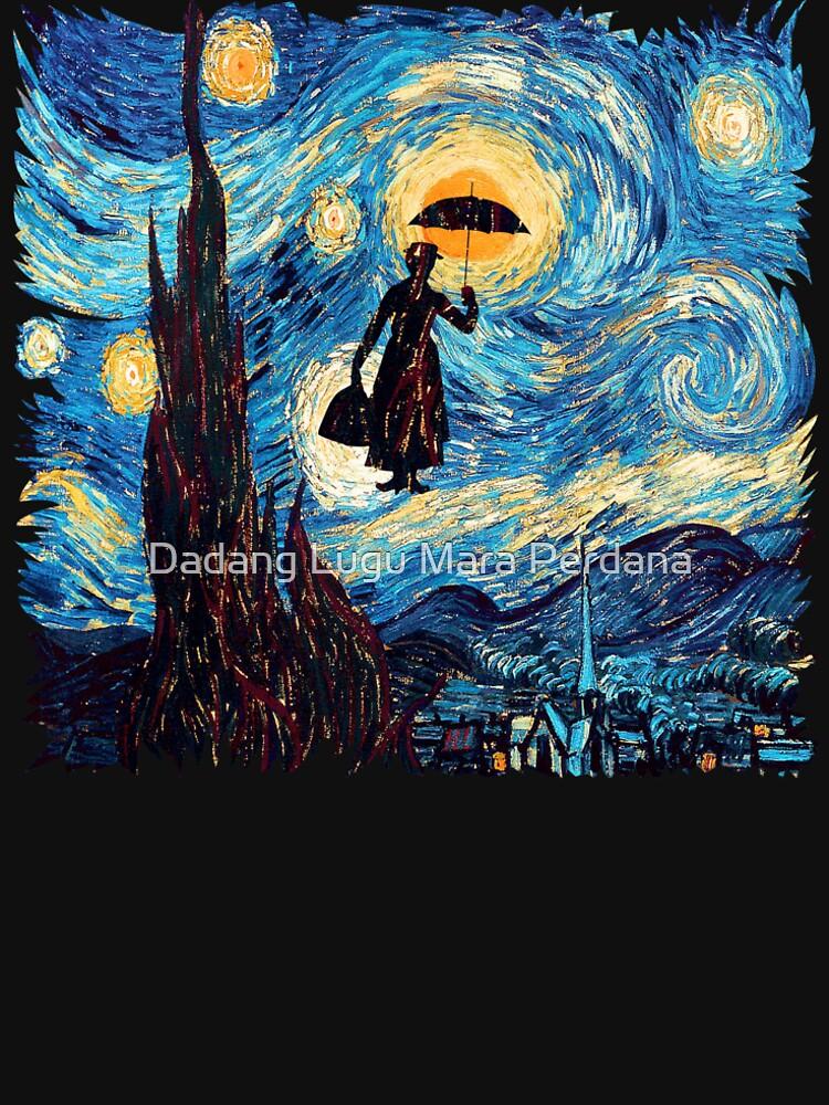 Die fliegende Dame mit einem Regenschirm-Ölgemälde von dezigner007