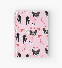 Boston Terrier valentines day cute dog gifts pure breed rescue dogs must haves Hardcover Journal