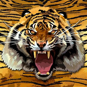 Tiger Roar Digital art Painting by dezigner007