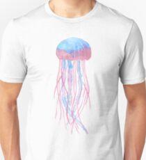 watercolor jellyfish (white background) Unisex T-Shirt
