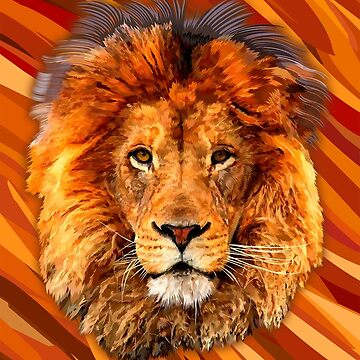 Old Lion Digital art Painting by dezigner007