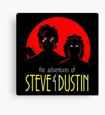 Dustin And Steve Combaination Canvas Print