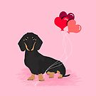 Dachshund valentines day gifts heart balloons dog breed must haves dachsie doxie  by PetFriendly
