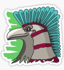 Mayan Eagle street art tattoo original Sticker