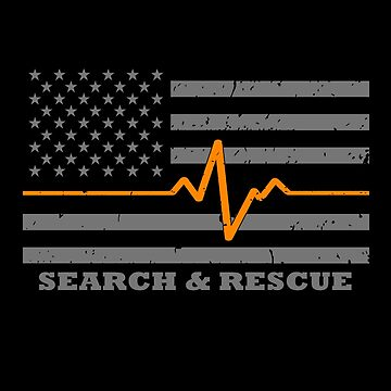 Search And Rescue Thin Orange Line Flag by bluelinegear
