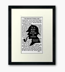 Sherlock Holmes Quote Art Framed Print