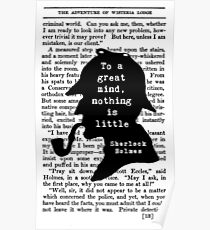 Sherlock Holmes Quote Art Poster