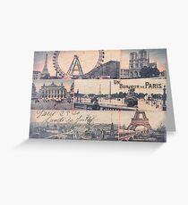 Paris vintage collage Greeting Card