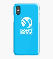 AWESOME QF99 Hitchhikers Guide To The Galaxy  Don't Panic Trending iPhone Case/Skin