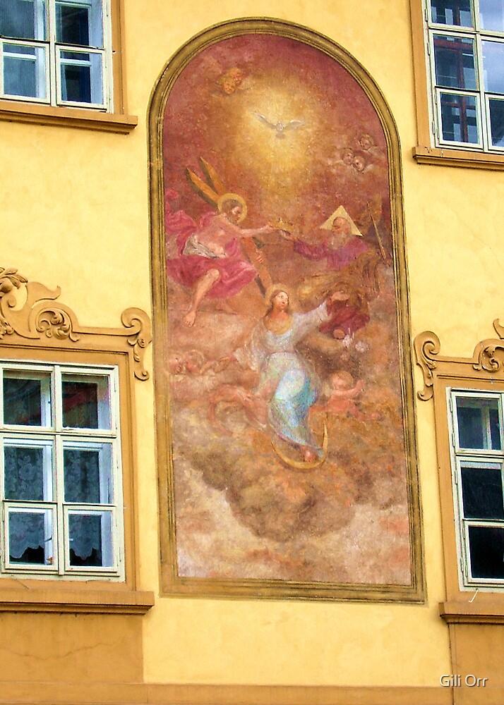 Prague mural by Gili Orr