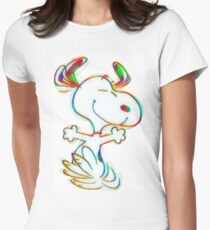 Colorful Snoopy Women's Fitted T-Shirt