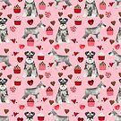 Schnauzer valentines day cupcakes love hearts schnauzers must have pure breed lovers by PetFriendly