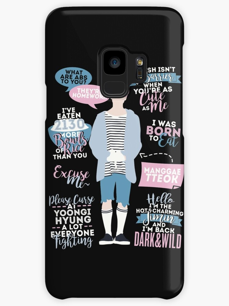 Bts Jimin Quotes Cases Skins For Samsung Galaxy By Zerokara