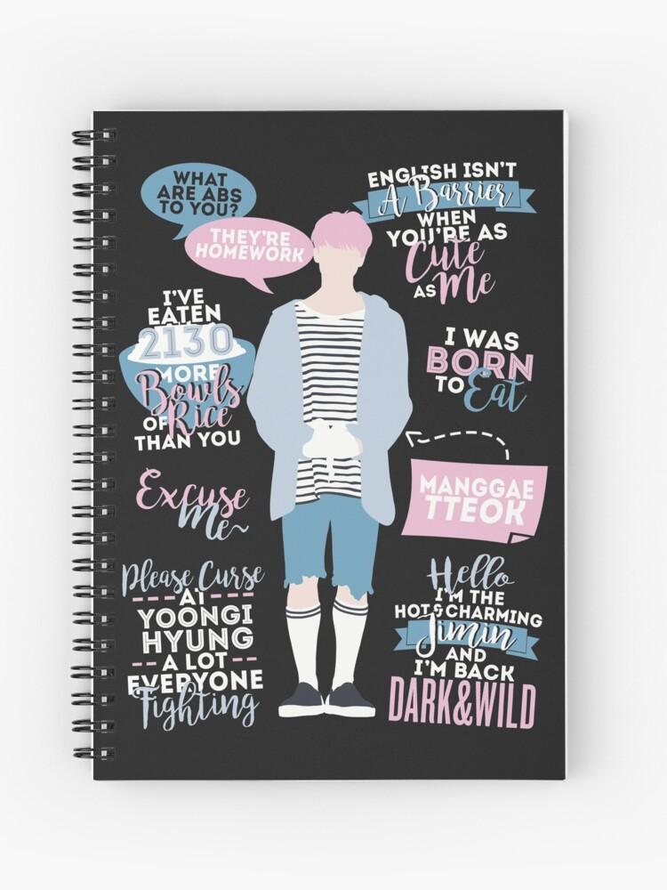 Bts Jimin Quotes Cuaderno De Espiral