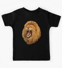 Lion Roar Digital art Kids Tee