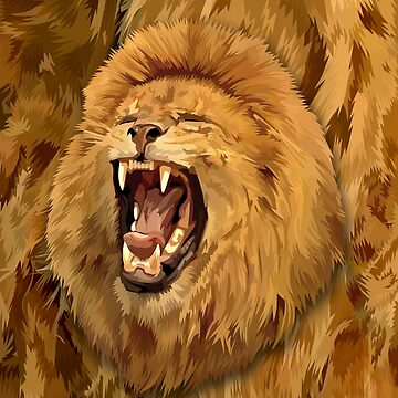 Lion Roar Digital art by dezigner007