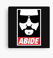 The Dude Abides Abide Canvas Print