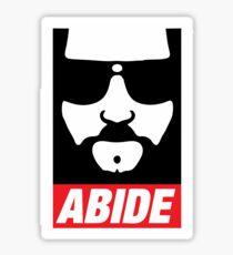 The Dude Abides Abide Sticker