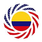 Colombian American Multinational Patriot Flag Series by Carbon-Fibre Media