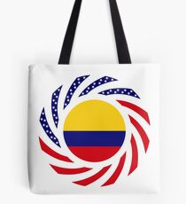 Colombian American Multinational Patriot Flag Series Tote Bag