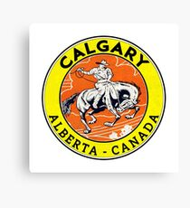Calgary Alberta Canada Cowboy Horse Stampede Rodeo Canvas Print
