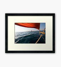 Sailing to anchor Framed Print