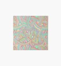 Pattern of colored strips of smooth, fairy rainbow pastel colors. Art Board