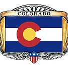 Colorado Art Deco Design with Flag by Cleave