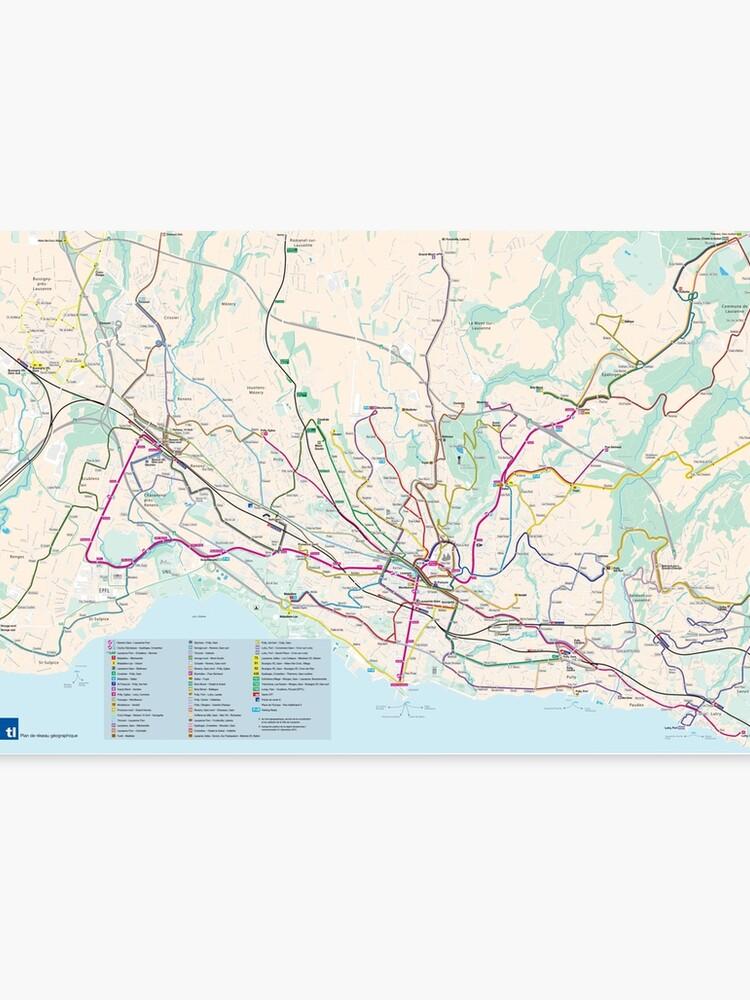 Lausanne Transport Map - Large - Switzerland\