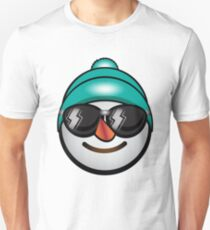 Just Chilling Snowman in a Beanie Unisex T-Shirt