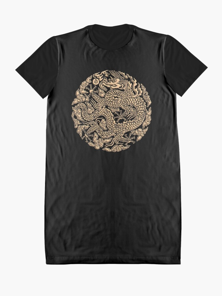Alternative Ansicht von Golddrachen shenlong T-Shirt Kleid