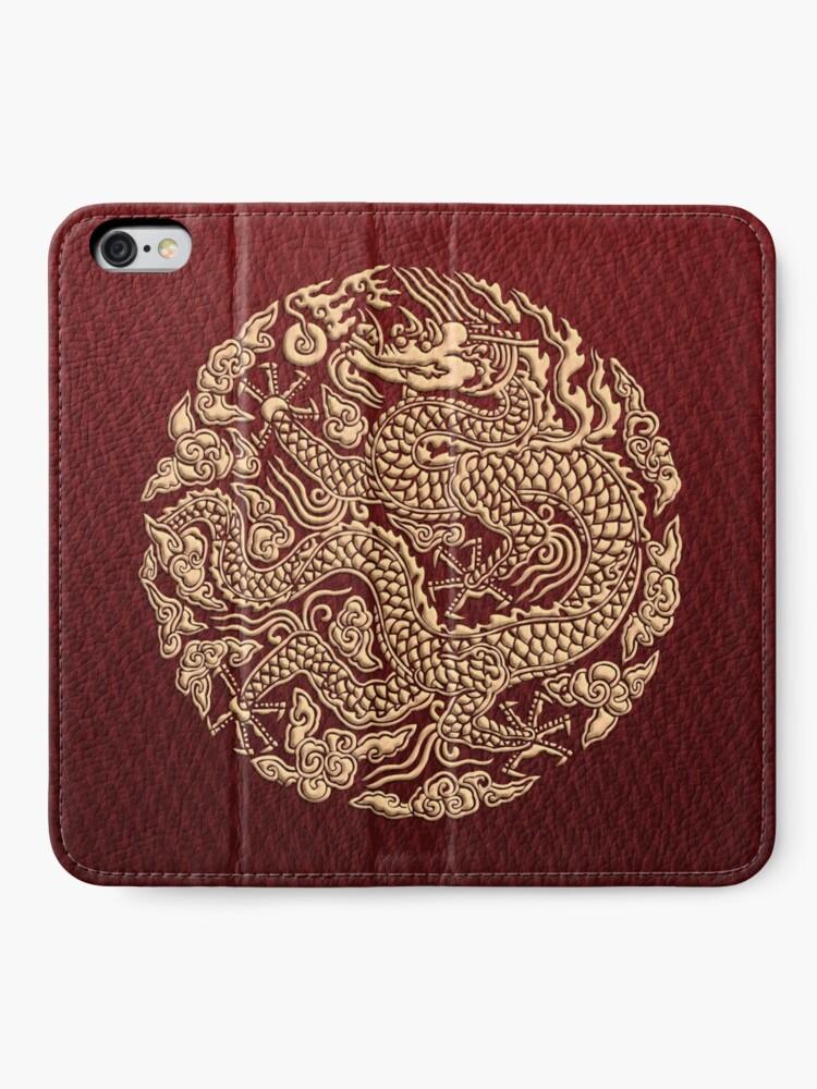 Alternative Ansicht von Golddrachen shenlong iPhone Flip-Case