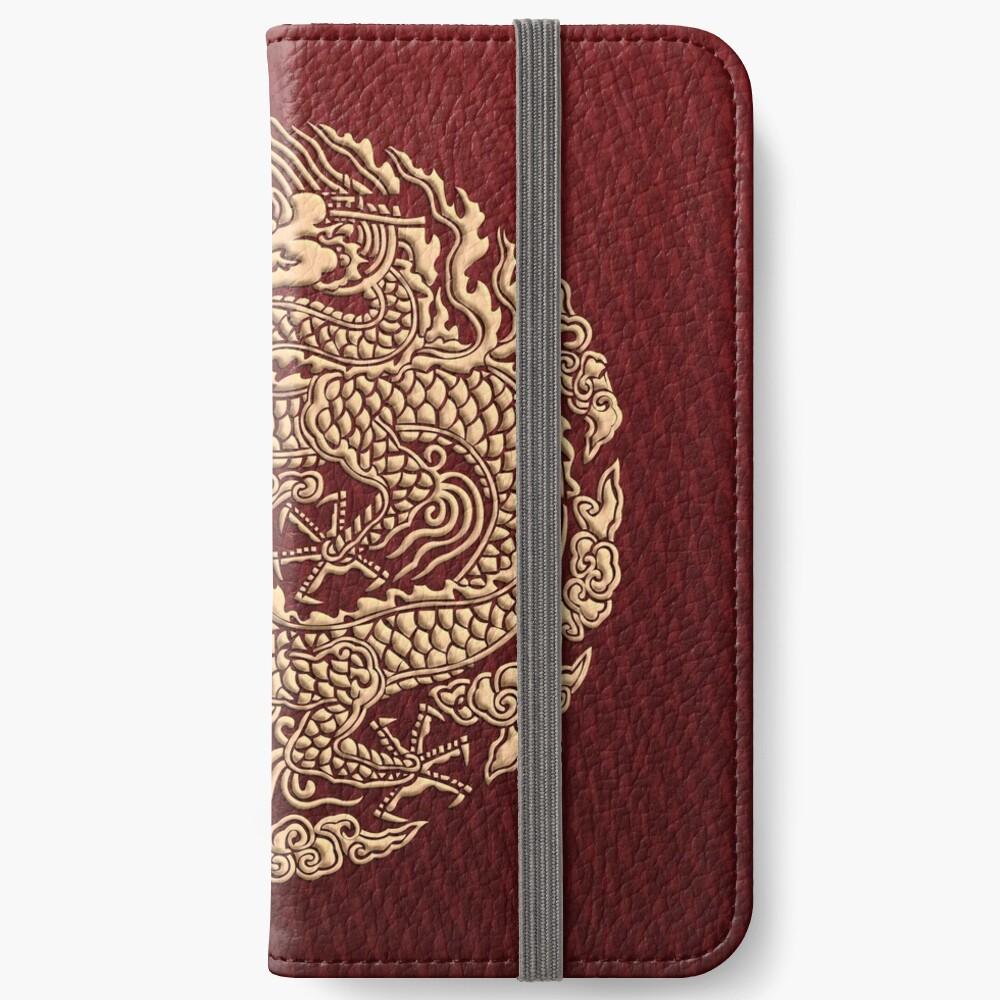Golddrachen shenlong iPhone Flip-Case